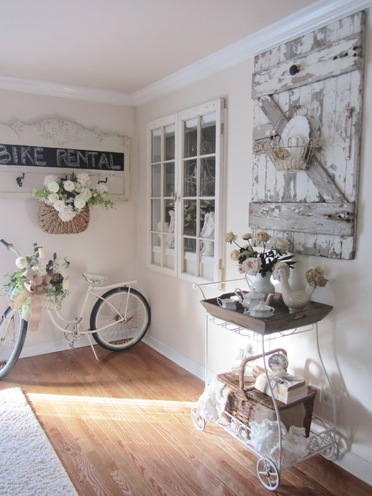 Old Door Decorating Junk Chic Cottage