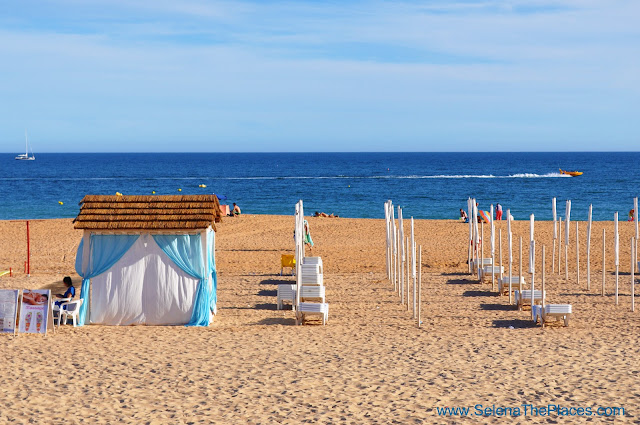 Beach Old Town Albufeira Algarve Portugal