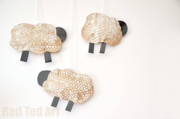 bubble wrap sheep craft