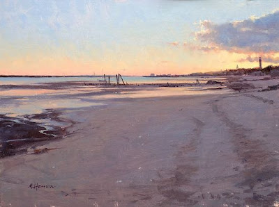 Low Tide Silence - 12x 16  Oil
