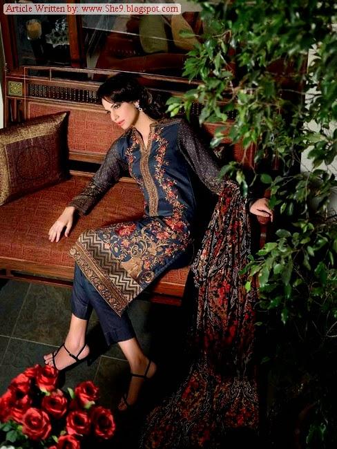 Gul Ahmed Silk / Embroidered Velvet Dresses