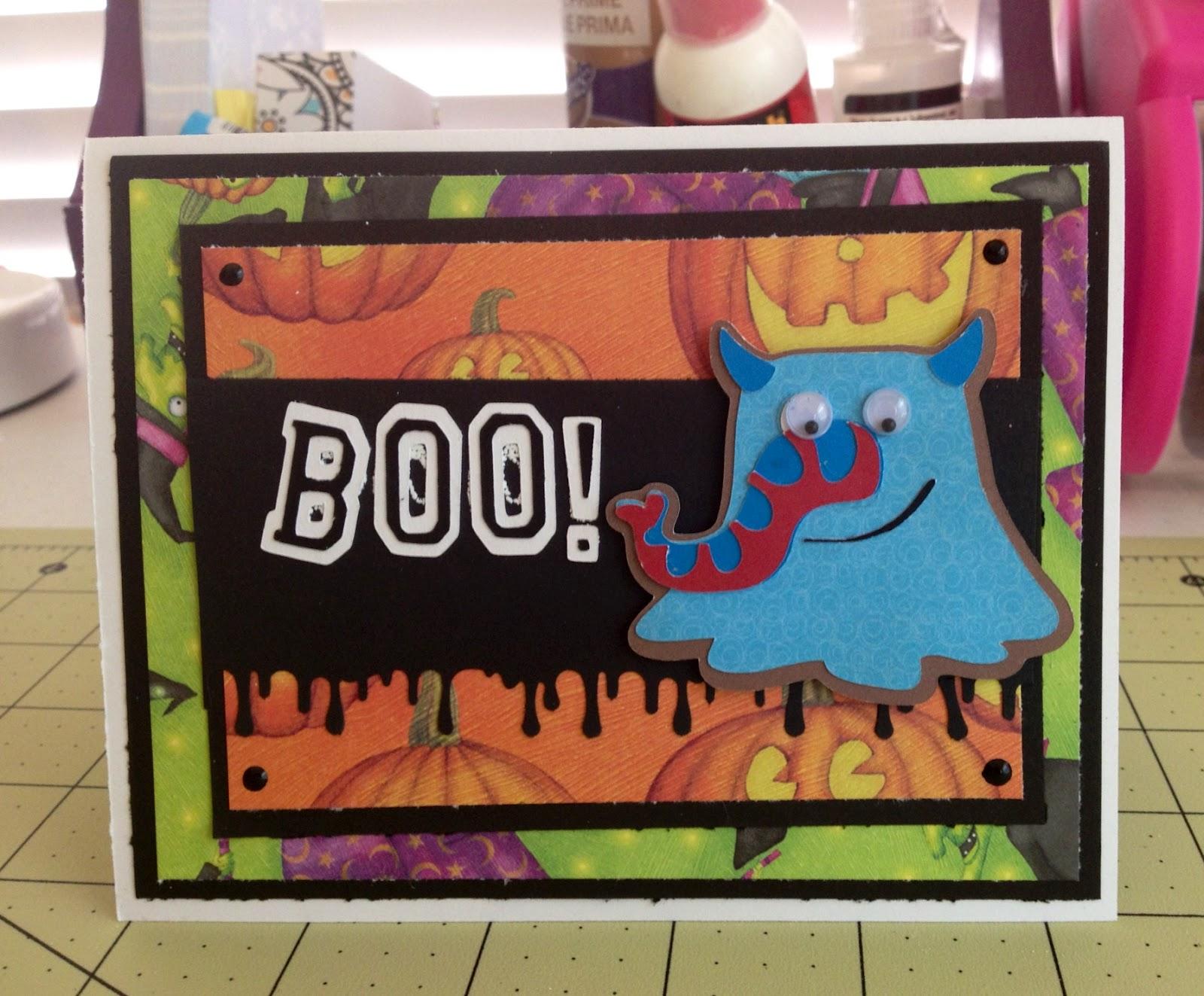marilyn's cricut cards ~: ghoul halloween card