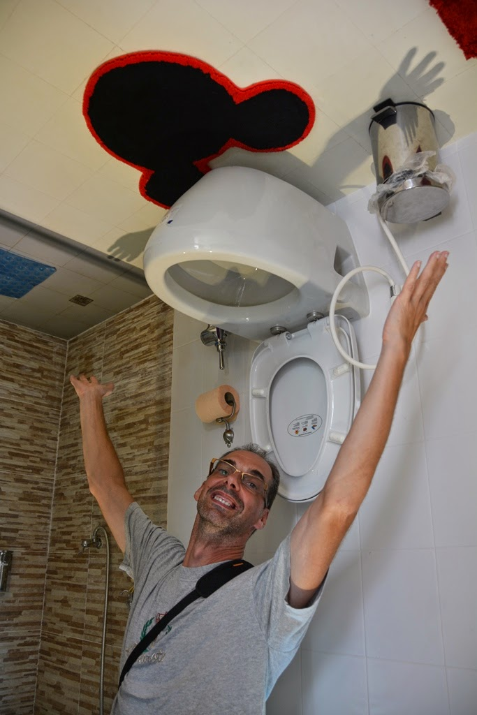 Upside down house Phuket toilet