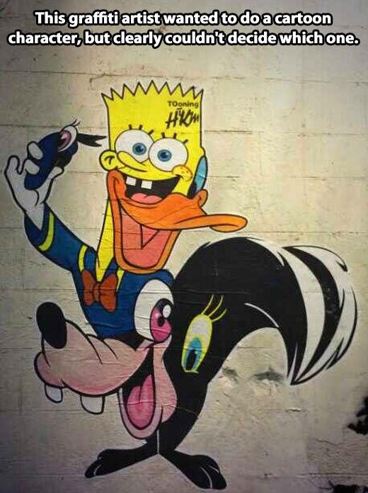 graffiti cartoon characters photos