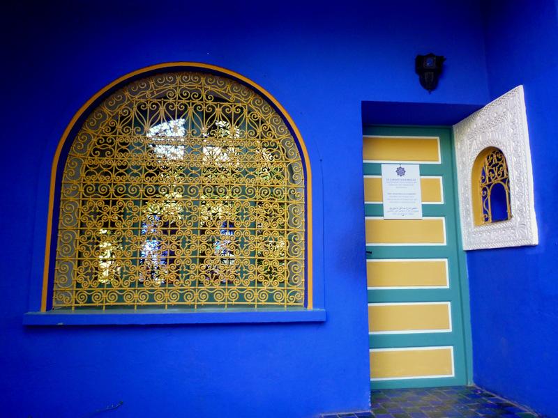 Le rose et le noir laque couture 18 bleu majorelle d 39 ysl - Residence les jardins de majorelle marrakech ...