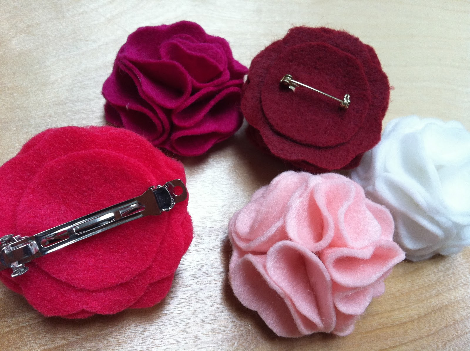 The Contemplative Creative Felt Flower Pins