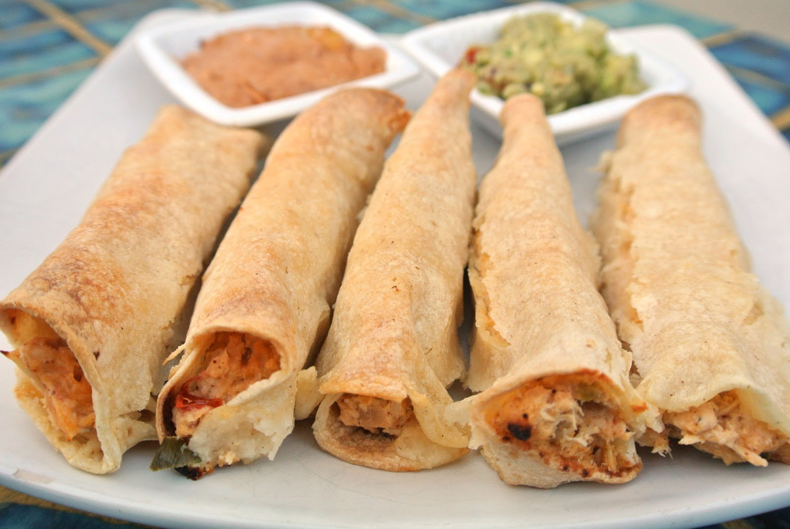 Mom, What's For Dinner?: Creamy Baked Chicken Taquitos
