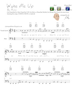 Wake Me Up Avicii Sheet Music