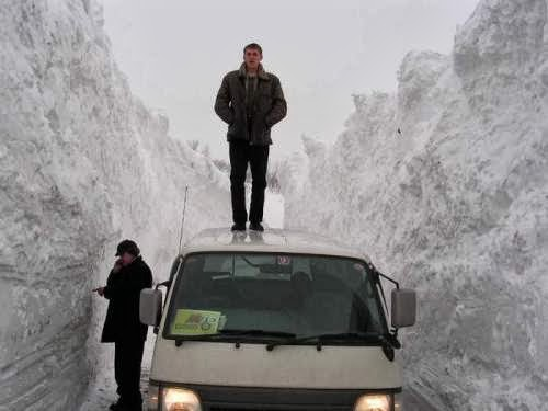 Because of how the mountains and valleys are in this town, the massive amount of snowfall happens every year.