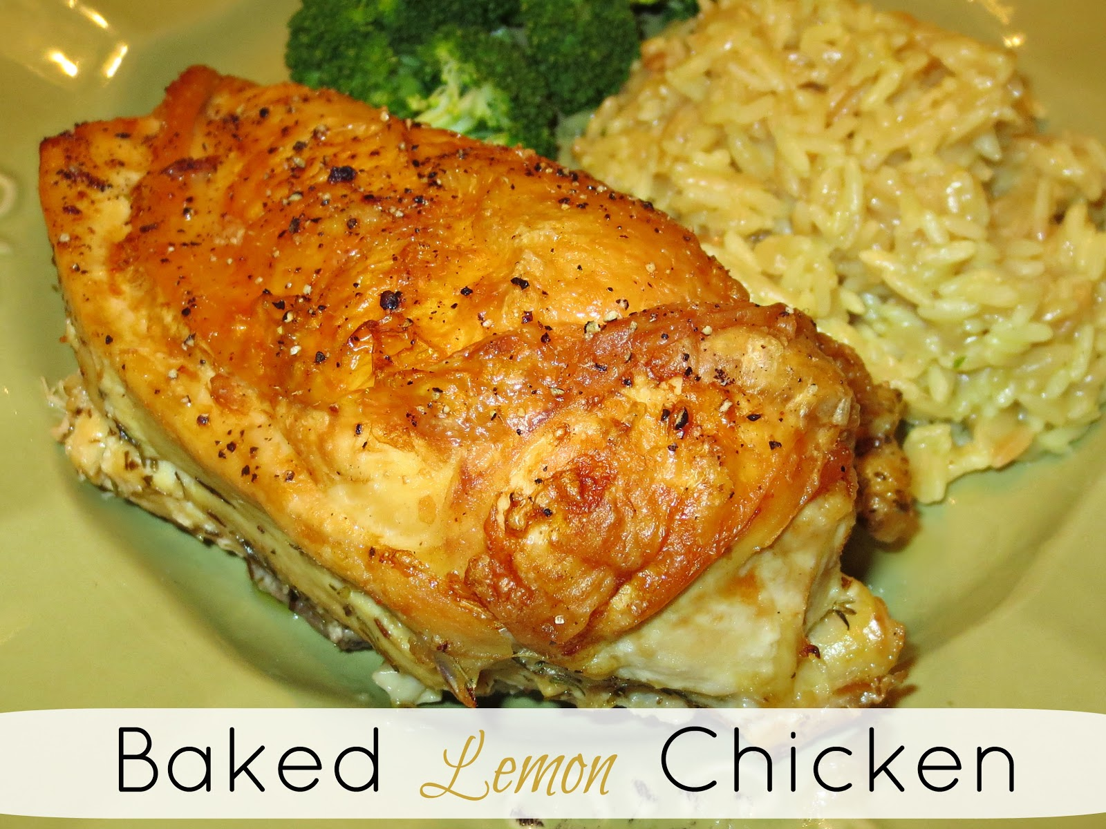 Kaitlin in the Kitchen: Baked Lemon Chicken