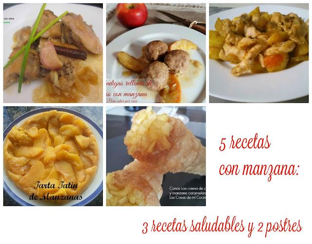 5 Recetas Con Manzana: 3 Recetas Saludables Y Dos Postres
