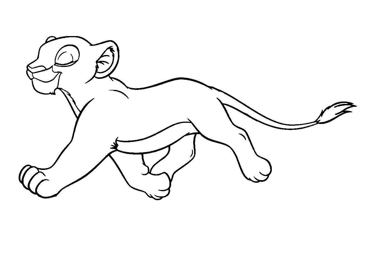 Disney Cartoon The Lion King For Kid Coloring Drawing Free wallpaper