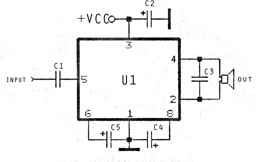 mini and simple power amplifier circuits rh rangkaianlo blogspot com Power Amplifier Circuit Diagram Amplifier Diagram