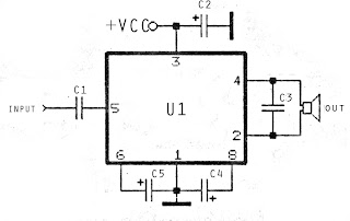 low power amplifier schematic