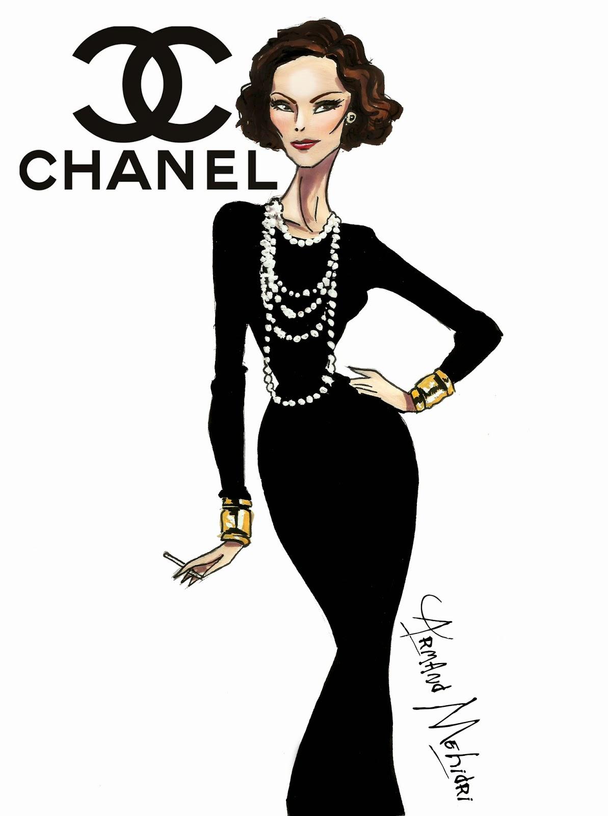 Fashion week Chanel coco fashion sketch for girls