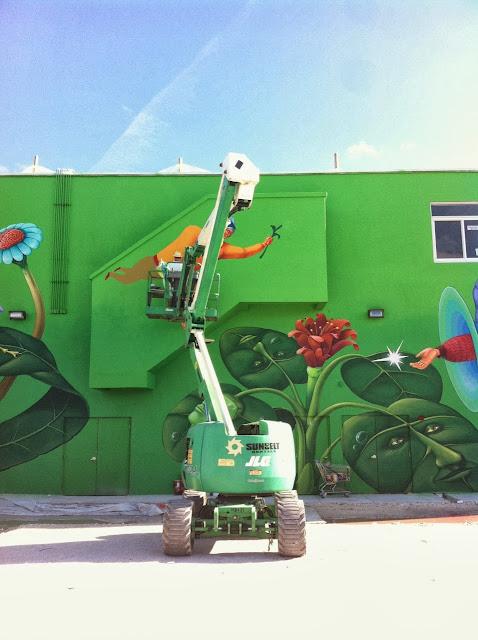 Work In Progress By Ukrainian Street Art Duo Interesni Kazki In Miami, USA. 5