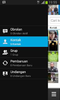 Tampilan BBM Android