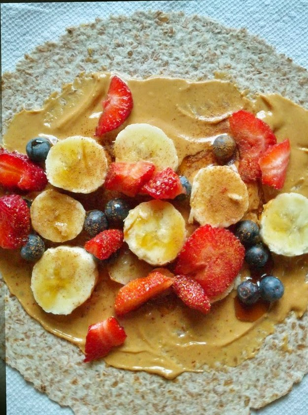 Peanut Butter & Berry Energy Wrap Recipe