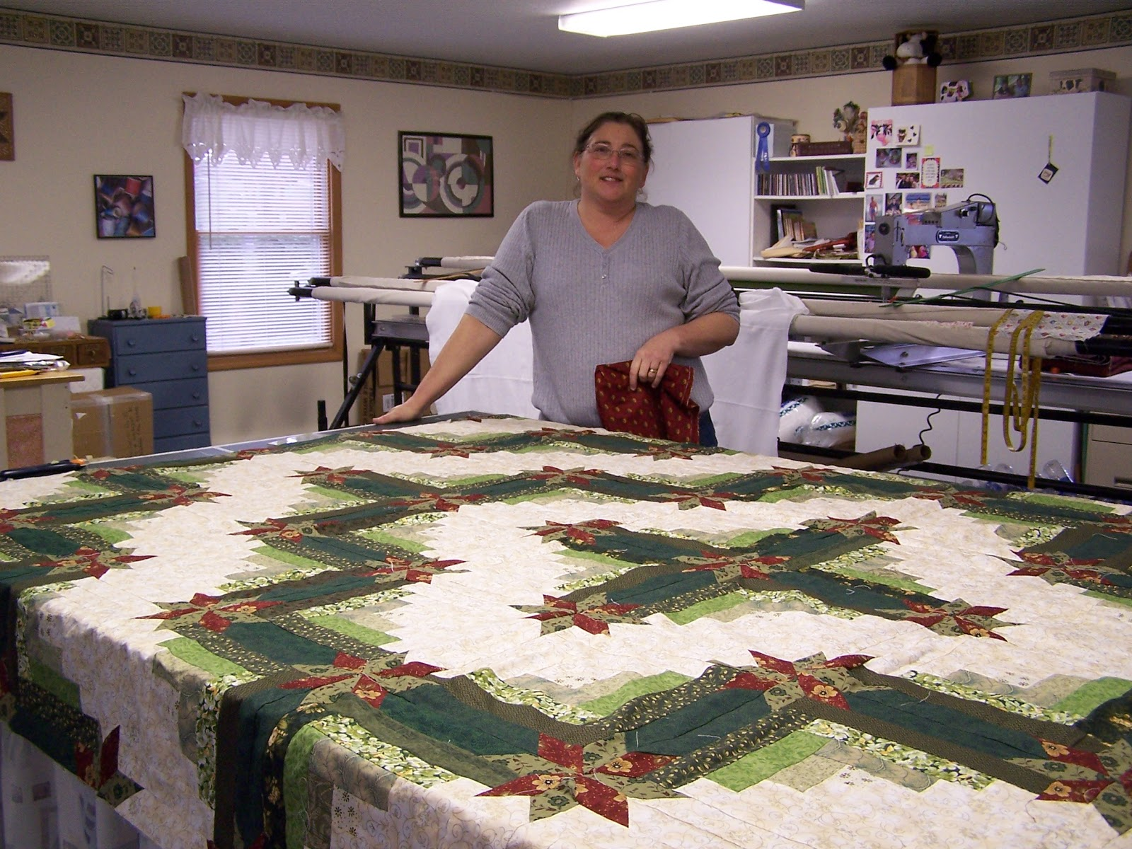 Glady's Gab on Quilts and Quotes: Fall Quilting with Sweet Peas ... : colorado log cabin quilt - Adamdwight.com