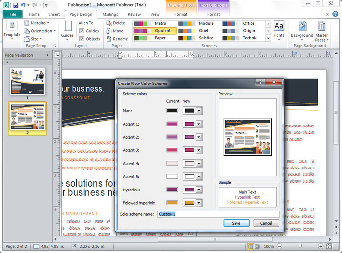 microsoft word publisher