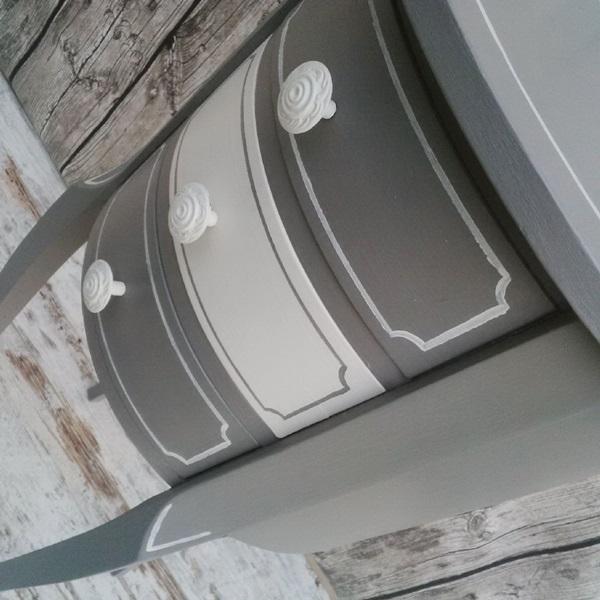 recupero creativo di un mobiletto fagiolino 3 cassetti shabby chic