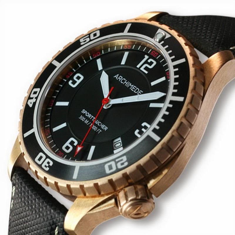 Oceanictime archimede sporttaucher bronze - Bronze dive watch ...