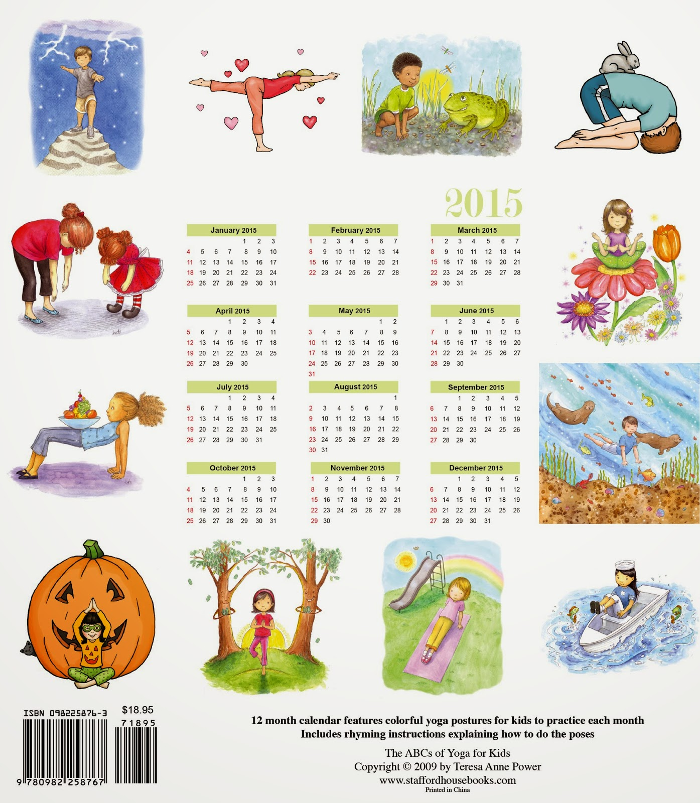 Yoga for kids abcs of yoga for kids 2015 calendar yoga for kids altavistaventures Images