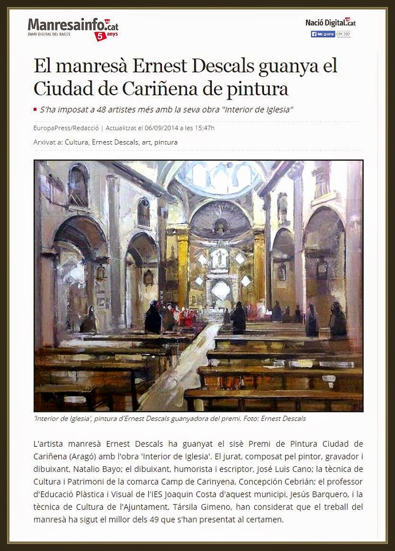 CARIÑENA-PINTURA-NACIO DIGITAL-NOTICIES-ART-PREMIS-CONCURSOS-PINTOR-ERNEST DESCALS