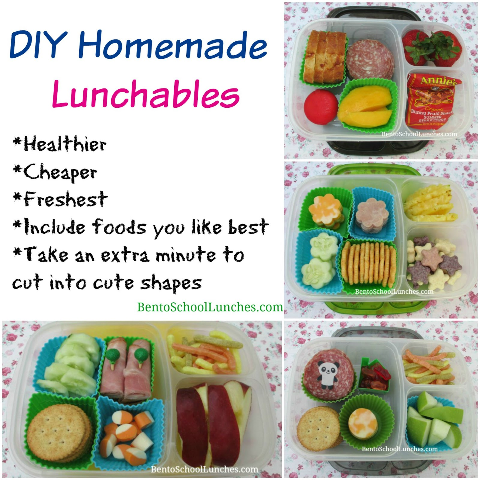 bento school lunches 4 diy homemade lunchables. Black Bedroom Furniture Sets. Home Design Ideas