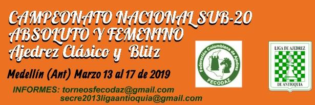 Campeonato Nacional Sub-20 Absoluto y Femenino Ajedrez Clásico y Blitz (Dar clic a la imagen)