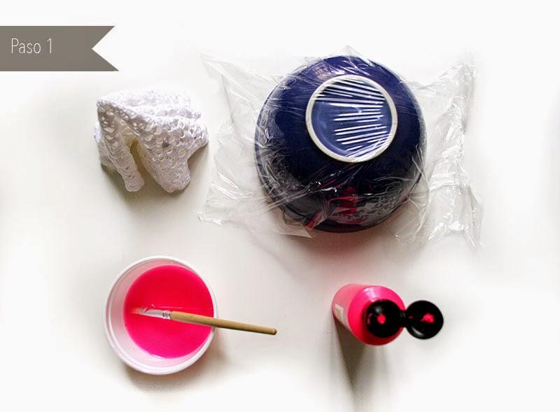 DIY Cómo hacer cuencos con tapetes de ganchillo