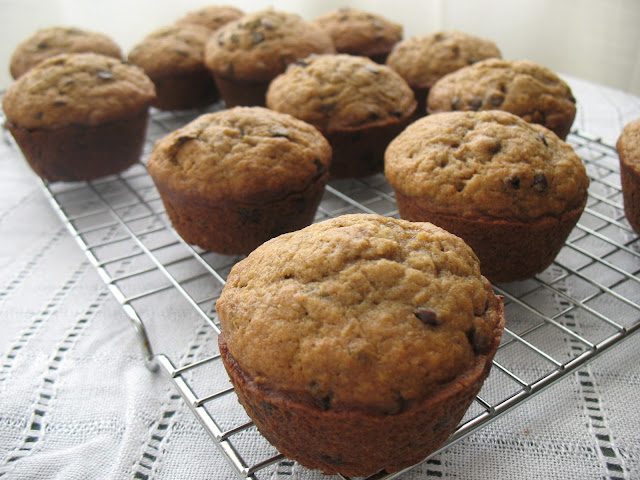The Messy Apron: Espresso Chocolate Chip Banana Muffins