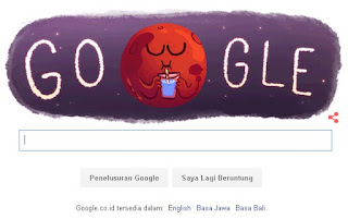 Google Doodle Temuan Air di Planet Mars (Foto - Google)