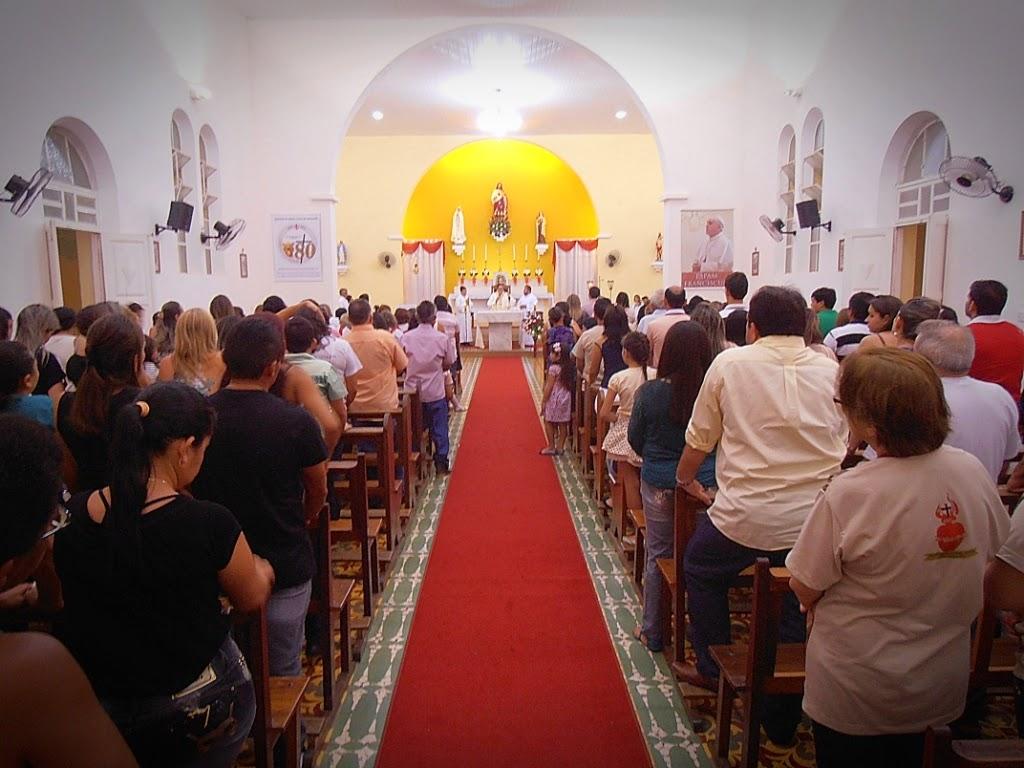 Imagens da Missa de abertura da 112º Festa em Honra ao Sagrado Coraçao de Jesus
