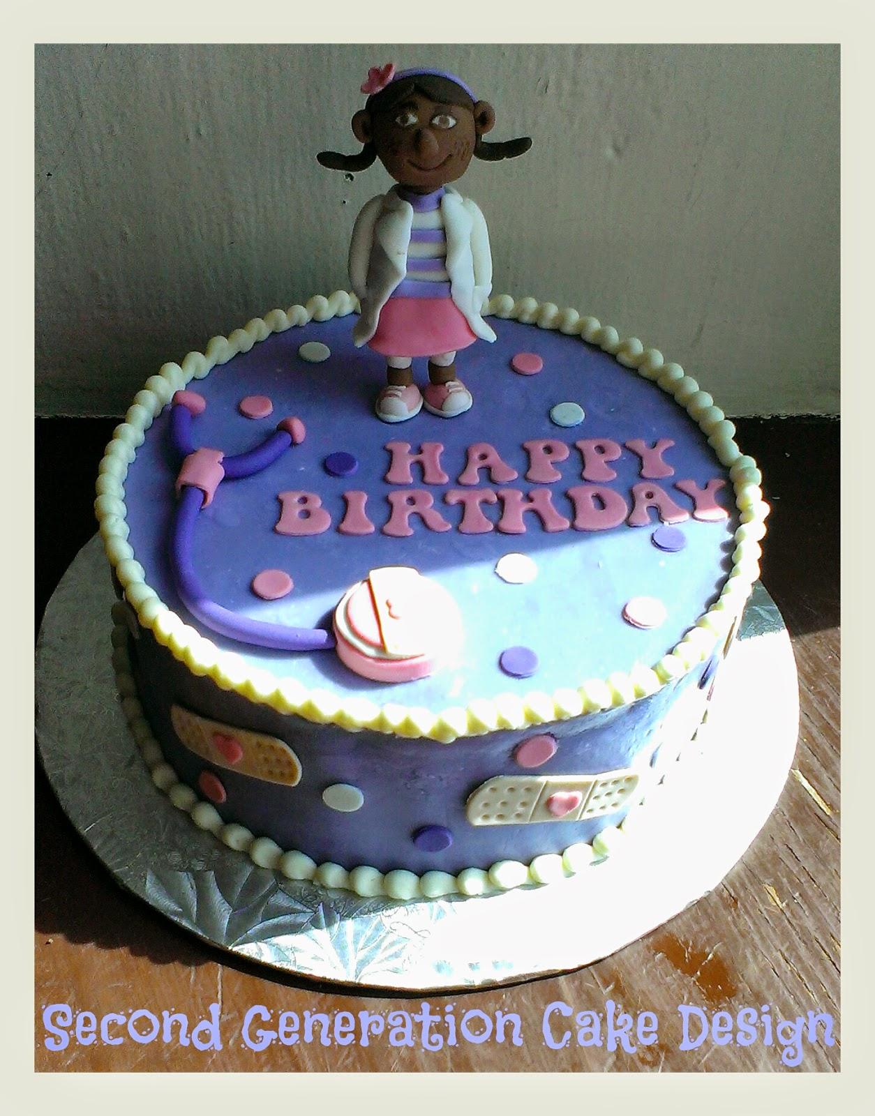 Second Generation Cake Design Doc Mcstuffins Birthday Cake