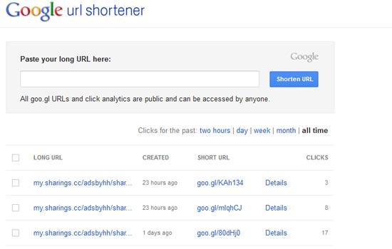 Pilihan Pendekkan URL atau Permalink