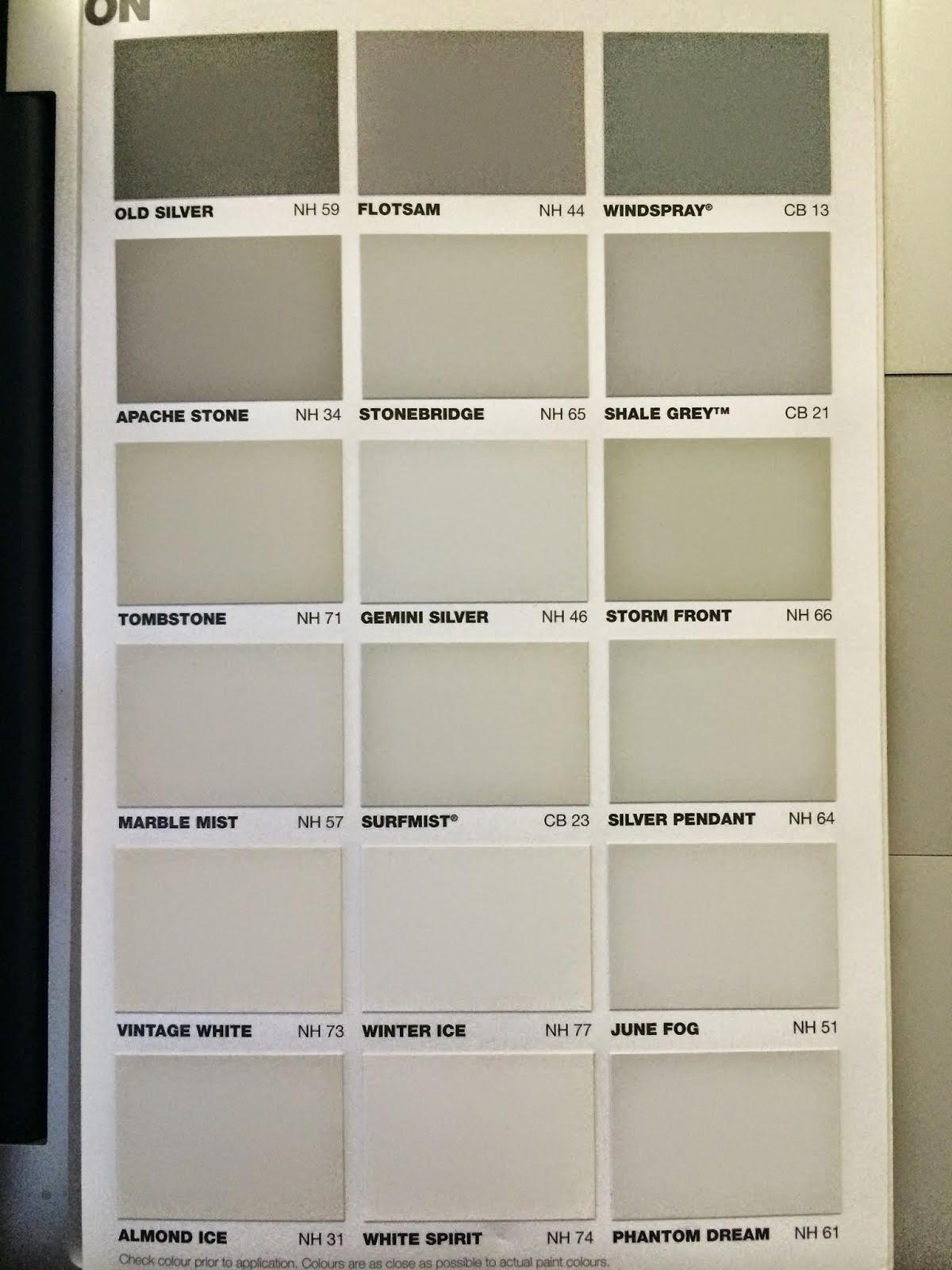 28 Paint Colour Chart Taubmans