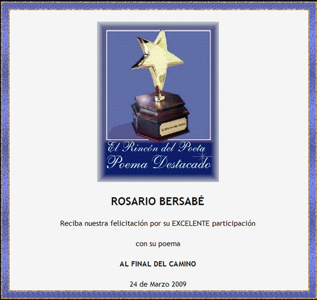 """Poema destacado e """"El rincón del Poeta"""""""