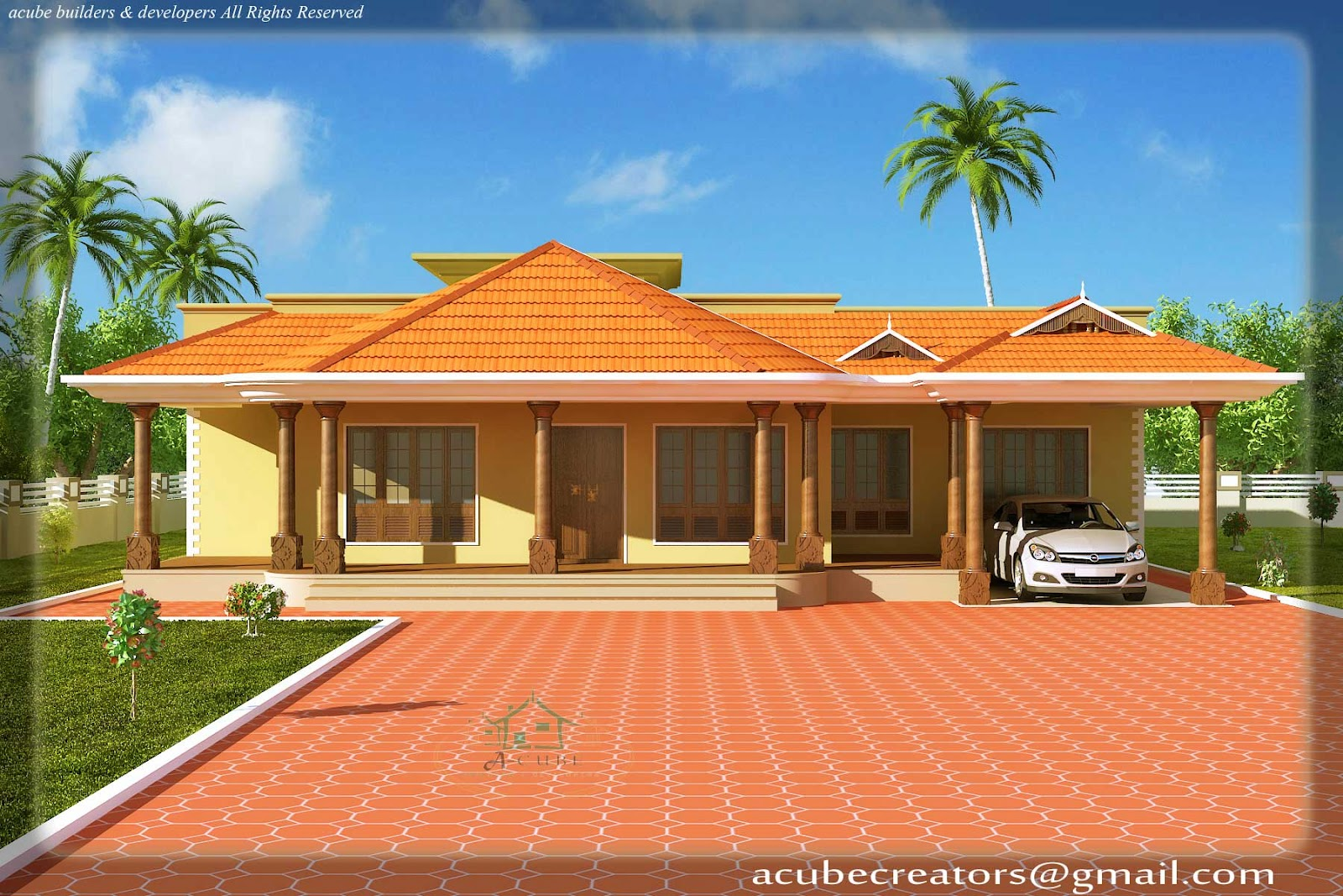 Kerala style single floor house 2500 sq ft plan 113 2500 sq ft house plans indian style