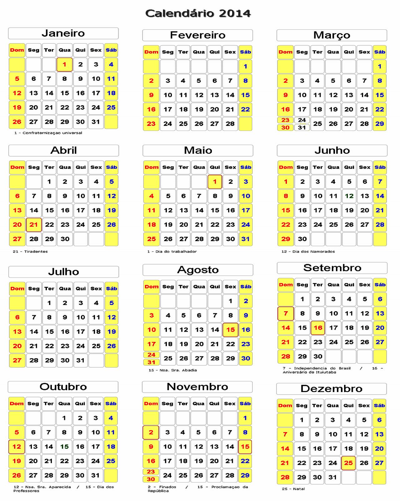 Calendario Para Imprimir Calendario 2014 Page 3 | Share The Knownledge