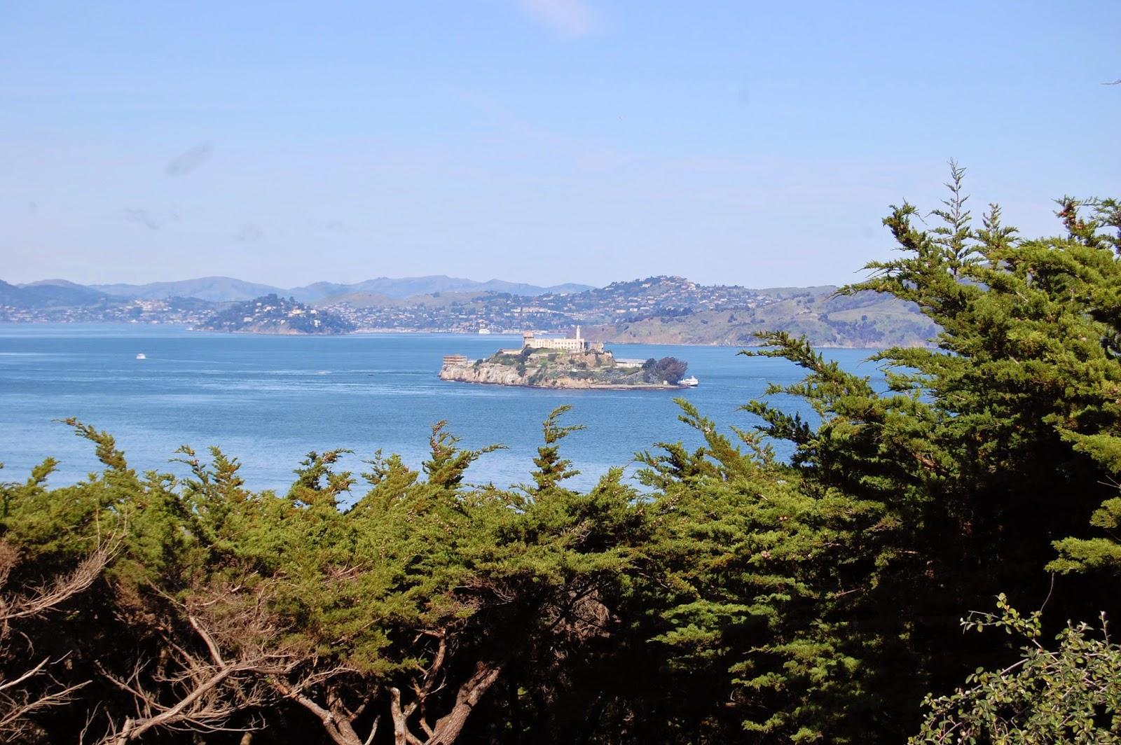 Alcatraz vue de Coit Tower