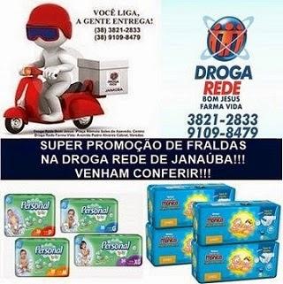 DROGA REDE JANAÚBA - PROMOÇÃO DE FRALDAS