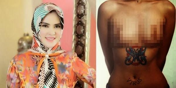 Foto Hot Angel Lelga Hampir Bugil Syur di cover slank beredar