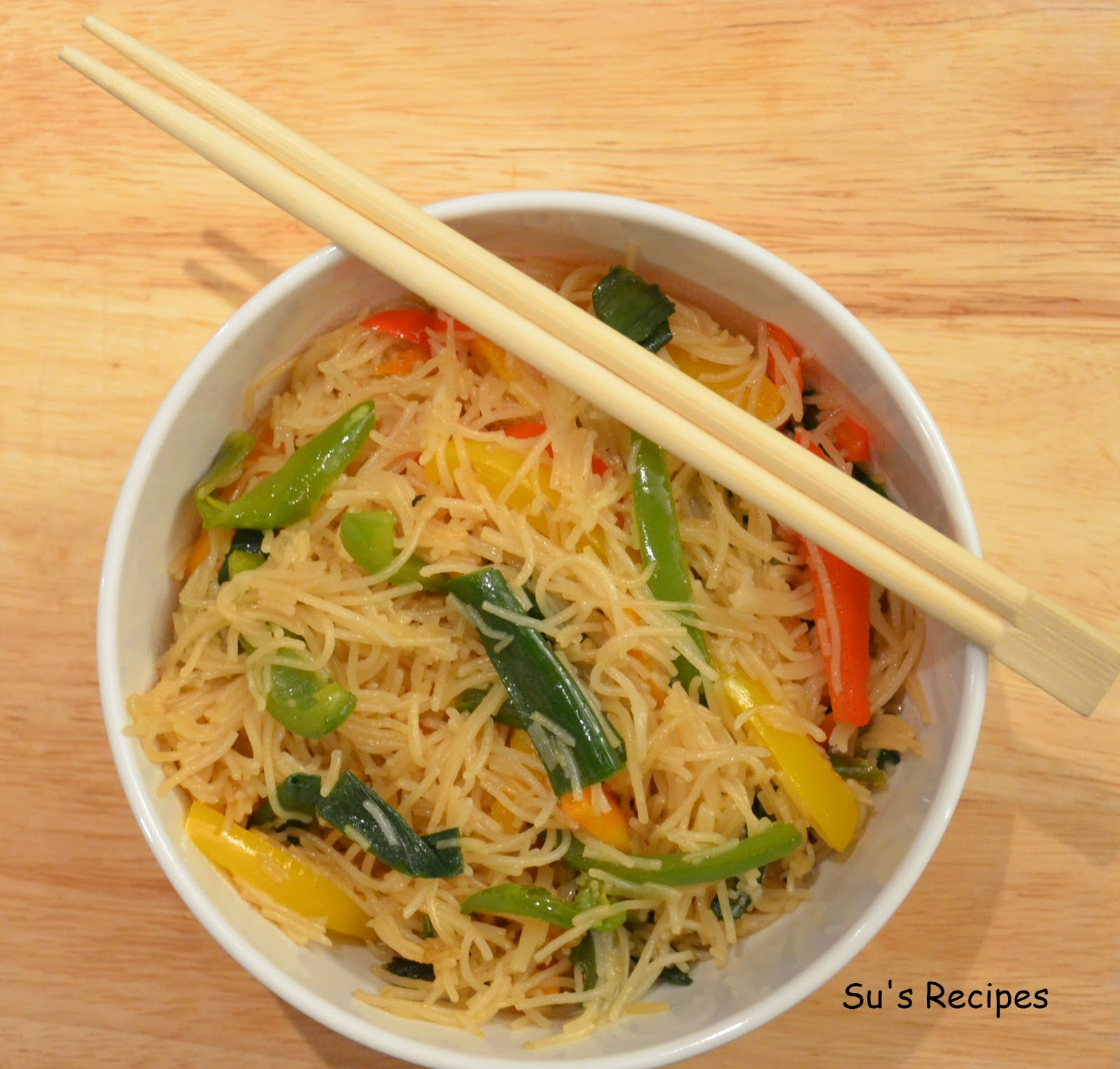 Su's Recipes: Stir Fry Vegetable Rice Noodles