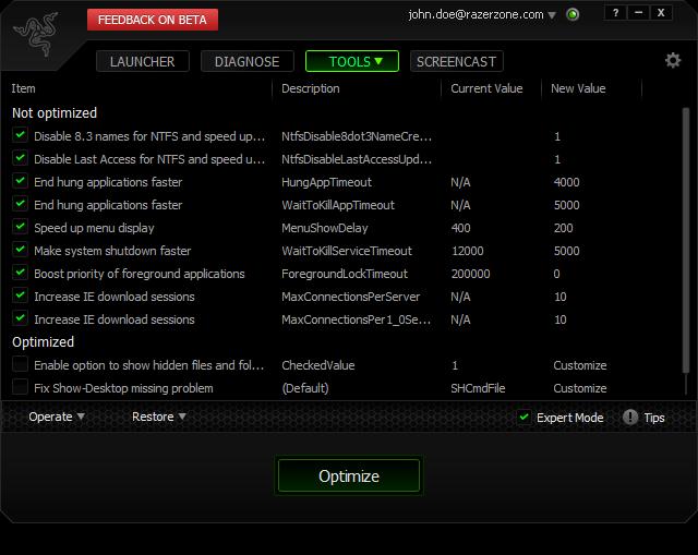 برنامج تسريع الالعاب وزيادة كفاءتها Razer Game Booster