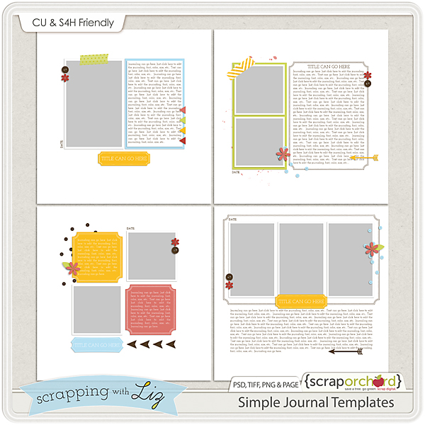http://scraporchard.com/market/Simple-Journal-Digital-Scrapbook-Templates.html