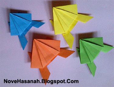 origami kodok loncat dan cara melipatnya
