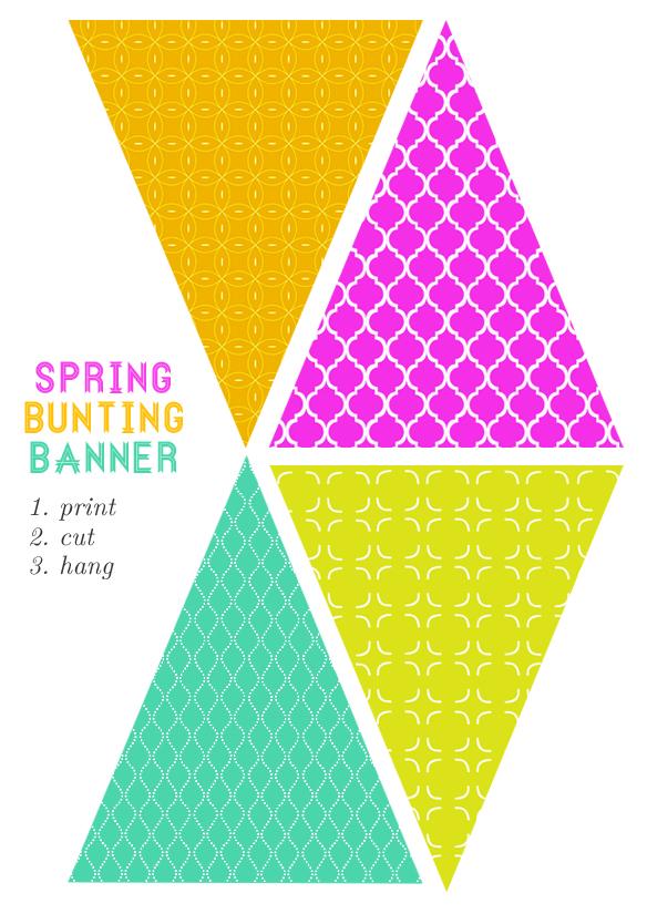 strive springy bunting flag printable