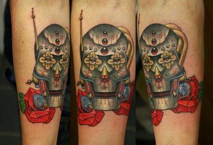 Melhores tatuagens de caveira mexicana do mundo