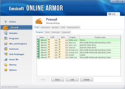 حماية بياناتك من الاختراق مع برنامج الحمايه من التجسس Emsisoft online armor 6